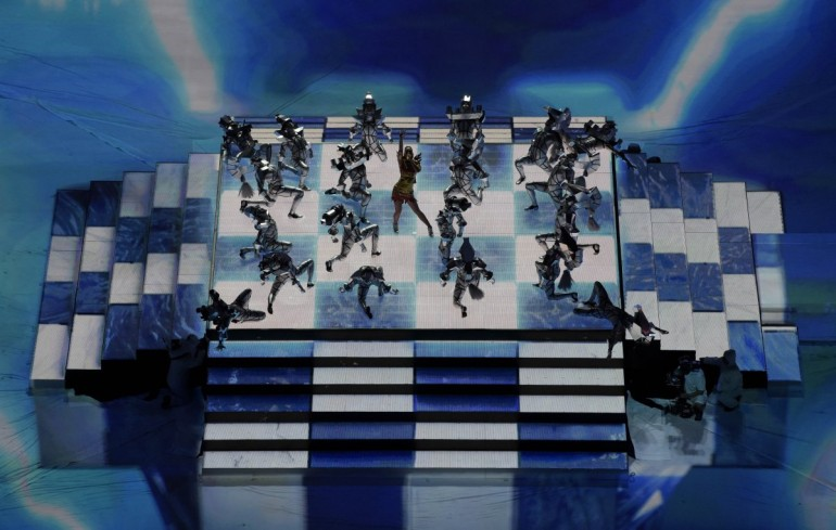 Projection Mapping At The Super Bowl Half Time Show